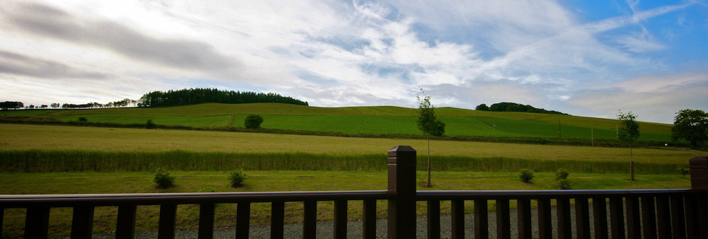 view from self_catering Lodges Perthshire