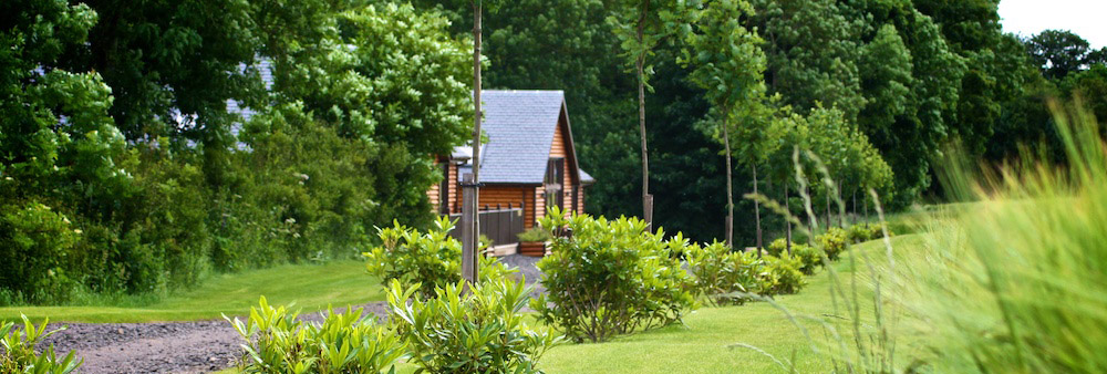 self catering lodges Perthshire exterior