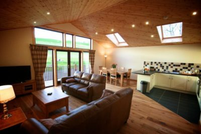 Self Catering Lodge, Open Plan Living Room